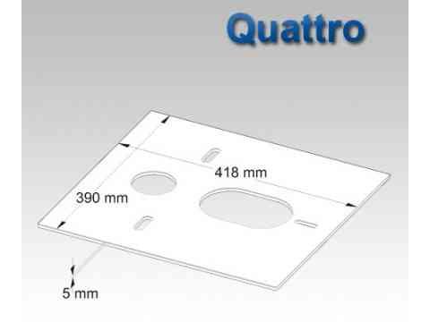 HydroSilent Wand WC Schallschutz Set Quattro