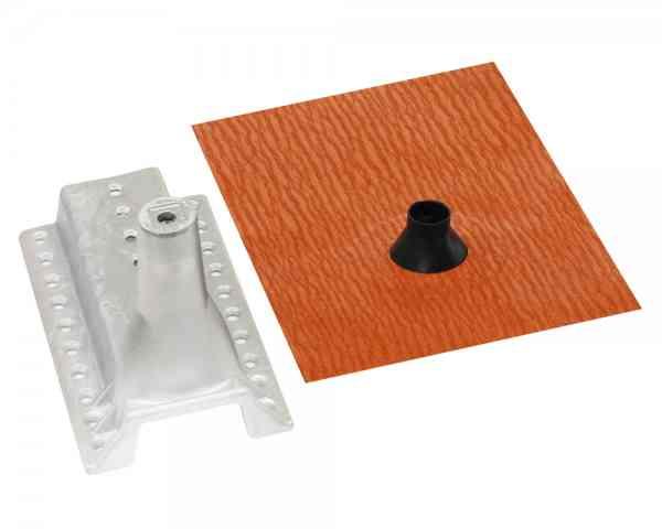 Kombi-Set DachDICHT Manschette GD22 + Gerätehalter M10