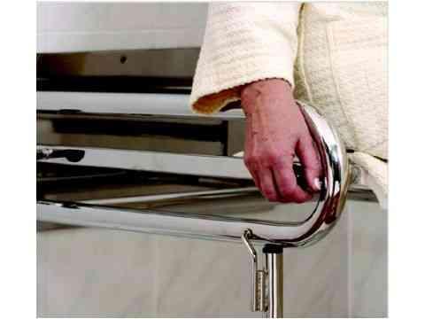 Duschrollsitz Edelstahl hochglanzpoliert