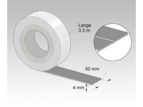 Wannen-Schalldämmband mit Nut 3,3 m x 50 mm