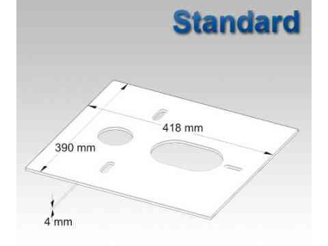Standard Schalldämmplatten für Wand WC und Wand Bidet