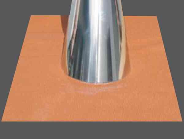 Abdichtung Dachdurchführung 5 - 30° oder 32 - 45° für doppelwandige Elementschornsteinsysteme