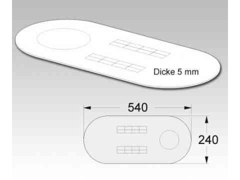 Standard Schalldämmplatte für die Montage von Stand WCs