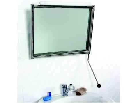 Kippspiegel Edelstahl Rohrrahmen für Waschbecken