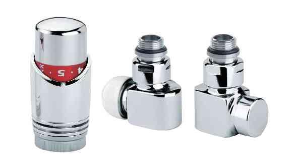 Design Thermostatventil inkl. Kopf Eckform