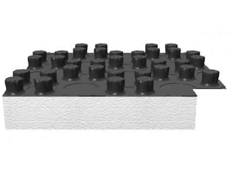 Flächenheizung Fußbodenheizung Noppenplatte mit EPS-Dämmung 30-2 mm
