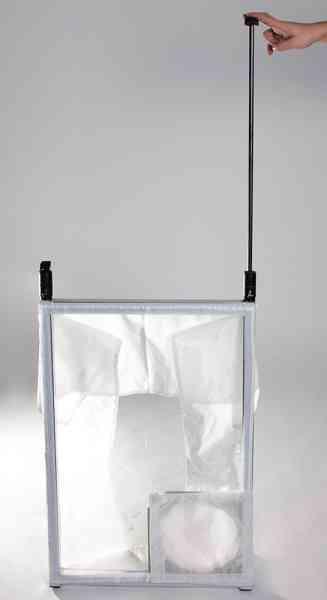 Staubschutz Baufenster mit Tragetasche zum Anschluss von Luftreinigern
