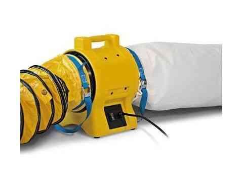 Luftreiniger Staubabsaugung 3500 - Turbo Ventilator Komplettset mit Staubfangsack und 5 m Schlauch