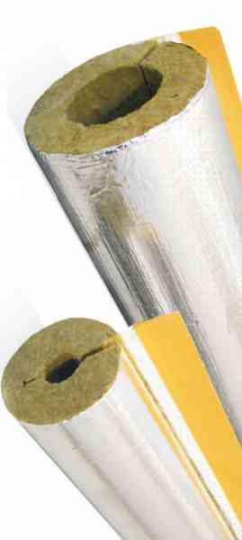 Isolier Rohrschale Steinwolle alukaschiert mit Gitterummantelung 100% EnEV