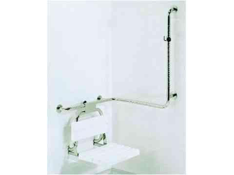 Sicherheits-Griffkombination für Duschen Edelstahl hochglanzpoliert