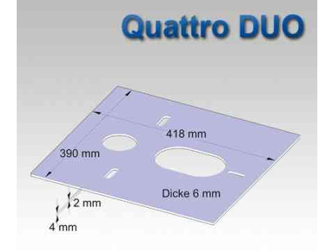 HydroSilent Wand WC Schallschutz Set Quattro DUO