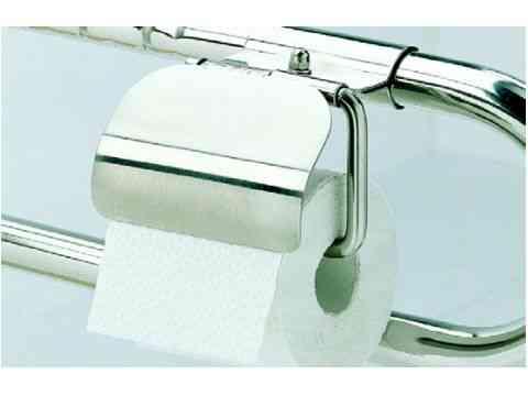 WC Papierhalter Edelstahl hochglanzpoliert