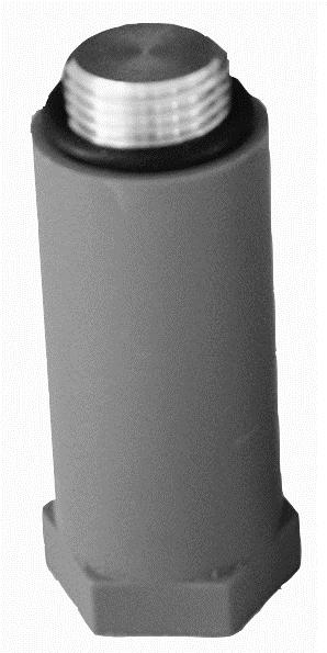 Baustopfen 1//2 Zoll Messing /& Kunststoff NEU