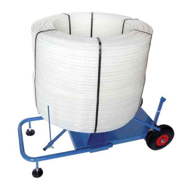 Abrollwagen für Heizrohre Flächenheizung Fußbodenheizung
