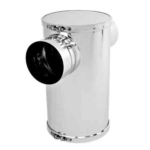 T-Abgasschalldämpfer Edelstahl Schallpegelminderung ca. 25 dB