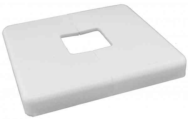 Schutz-Rosette - Zierrosette für Heizkörperbefestigung weiß