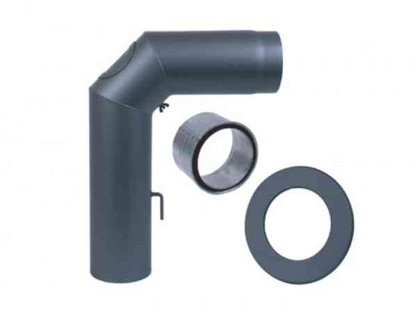 Verbindungsleitung Stahlrohr - Rohrset Standard aus 3-Segmentbogen 90°