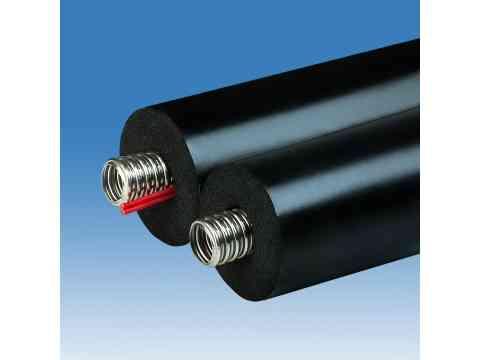Solarrohr DN 12 Edelstahlwellrohr 13 mm Isolierung Solarleitung