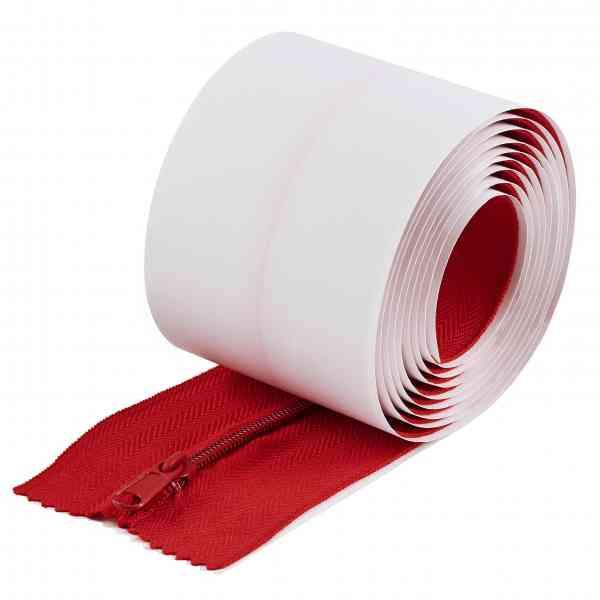 Selbstklebende Reißverschlüsse ZIP PROFI rot für Staubschutzwände 2er Set
