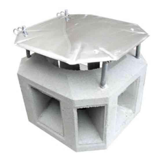 Schornsteinkopf Betonaufsatz mit Edelstahldeckel klappbar