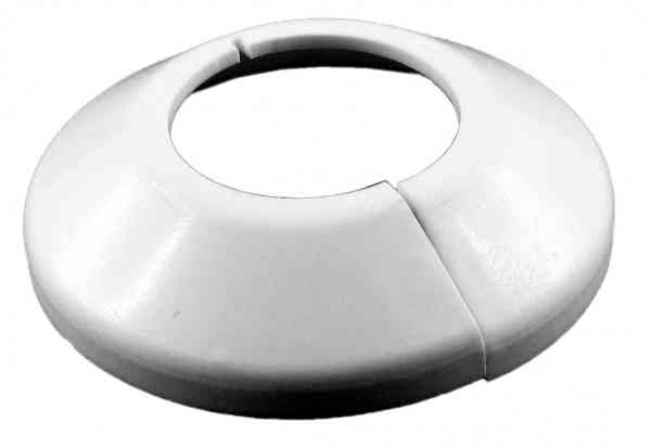 Abdeck-Rosetten für Kupferrohre weiß