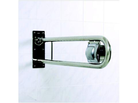 Sicherheits Stützklappgriff mit pneumatischer Spülkastenbetätigung