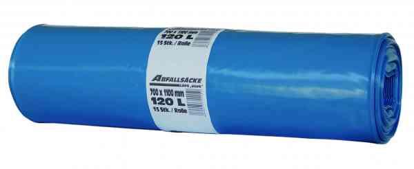 LDPE Abfallsack Müllsack 120 Liter Stärke 80 my auf Rolle mit 25 Stück